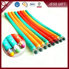 Silicone Touch Screen Pen Bracelet style pen in different color