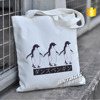 Environmental with logo print fashion shopping cotton bag