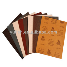 wet and dry alumina silicon carbide abrasive paper sheet