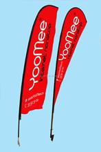 Fiberglass pole beach flag, high quality beach flag, good quality beach flag