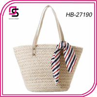 new style ladies french natural paper straw beach bag wholesale