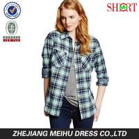 women's herringbone Flannel shirt , fashion casual blouses