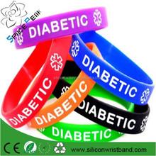 Medical Alert - medical bracelet diabetes hypertension silicone rubber bracelet wristband strap