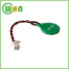 3v ml1220 recarregável batteria do cmos com fio e conector