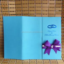 Best Price Modern Royal Diamond Blue Pocketfold Wedding Invitations