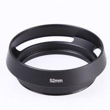 58mm Black Metal Tilted Vented Curved lens Hood for Leica M Leitz