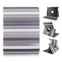 Stripes Changing Color PU Tablet Leather Case With Elastic Belt For Apple iPad 2 3 4, ipad air, ipad mini