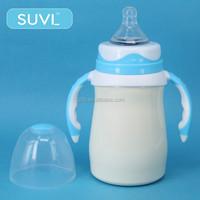 Free of BPA non-spill arc shape best penis shaped stainless steel feeding bottle for baby