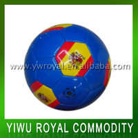 Spain National Flag Pattern Sewing Machine Soccer Ball