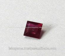 прекрасно рубин квадратный отрезок 8*8mm, природных драгоценных камней с хорошим качеством
