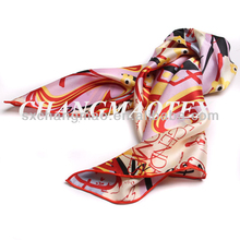 ladies flower printed polyester scarf fashion