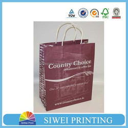 2015New printing kraft paper bag made in china,customized paper shopping bag,wholesale paper gift bag