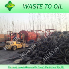 HUAYIN Old Tyre Pyrolysis Plant to Get Crude Oil Carbon Black and Steel