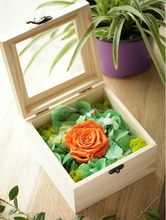Wooden eternal Life flower box with Glass