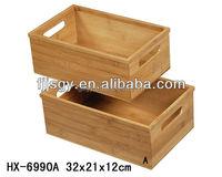 Hot selling bamboo kitchen storage box