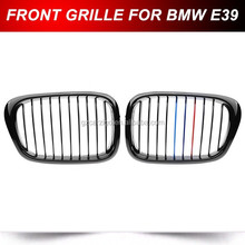 Pair Black M-color Front Gloss Wide Kidney Grill Grille For BMW E39 M5 1997-2003 (Fits: BMW)