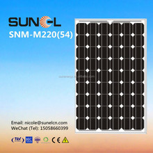 buy direct from china manufacturer 220w mono solar panel
