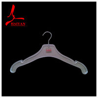 Extra Wide Black Plastic Top/Jacket Hanger - 49cm - XL + Premium Quality