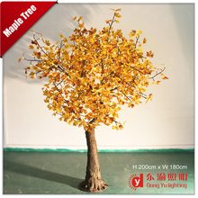 high simulation outdoor led lighted trees/MAPLE trees for garden decorations
