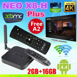 MINIX NEO X8-H Plus Android TV Box Amlogic S812 Quad Core+free MINIX NEO A2 Lite 2.4G Wireless Keyboard + Air Mouse