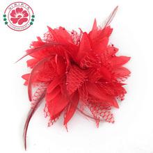 hecho a mano de la cinta de tela de pelo de flores al por mayor telas para hacer flores