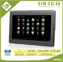 "Cost Effective 7"" Android Tablet PC with Allwinner Ducal Core CPU"