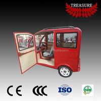 passenger use closed body electric tuk tuk 48V made in China