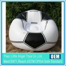 EN71 6P PVC Football Design Kids Promotion PVC Inflatable chair