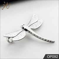 Animal Theme Stainless Steel Silver Dragonfly Charms
