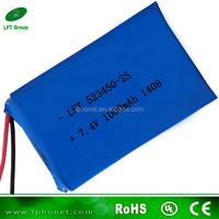 523450 7.4v 1000mah li-polymer battery pack