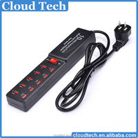 Bulk mobile accessories 10 port usb mobile phone travel charger