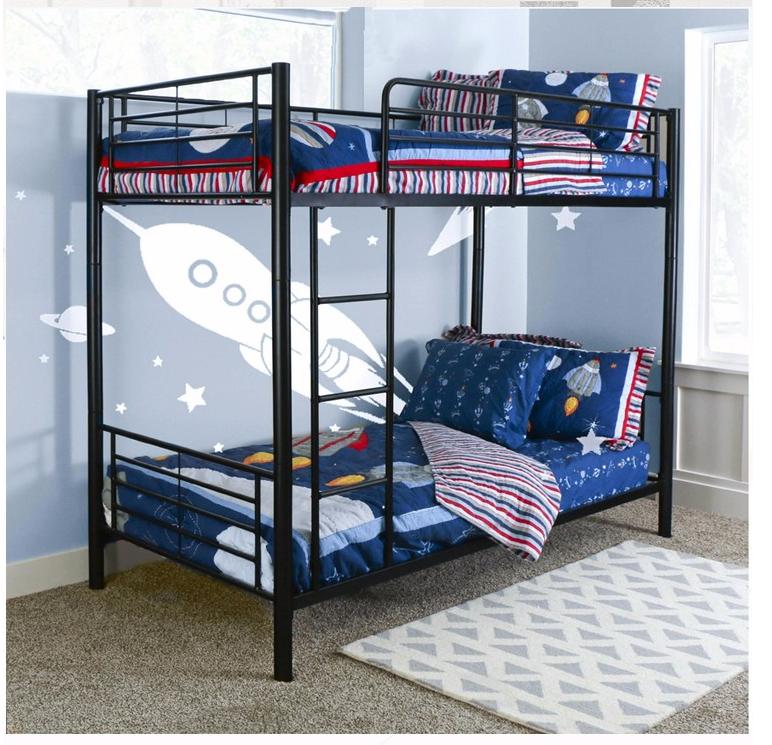 heavy duty acier m tal superpos s lit queen superpos s lit pour adulte reine taille lit gigogne lits. Black Bedroom Furniture Sets. Home Design Ideas