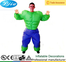 DJ-CO-136 Adult green huge people party supplies inflatable muscle costume