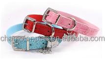 Hot rhinestone buckle+dog charm Alloy rhinestone buckle pet collar