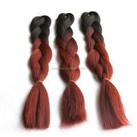 100% Kanekalon Synthetic Hair Braiding Omber Color Ultra Braid x-Pression Hair Weave Wholesale