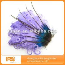 new design fashion natural fashion purple feather headband/hair accessory