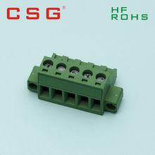 2-pole brass pcb terminal block