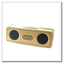 Manufacturers selling anti-static natural bamboo speaker with mic against radiation wireless bluetooth speakers shockproof