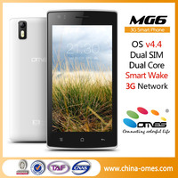 5'' MTK6572 Dual Core smart wake cheapest branded mobile phone