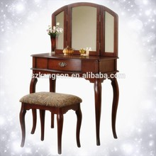 American style dressing table / wooden make-up set table with stool /bedroom dresser
