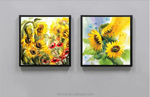 Hot selling modern embossed canvas painting art