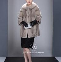 Hot Sale Korea Style 2015 Grils Clothing, Mink Fur Coat Modern with Mink Fur