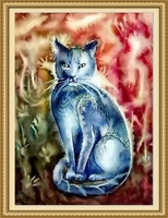 40*50cm factory price modern cat painting, easy pictures to paint