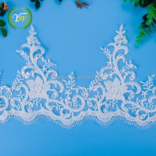 Low Price Customized Size Stretch Lace Fabric For Wedding Dress
