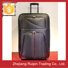 custom made cheap personalized 6 wheels vintage trolley luggage case for travel
