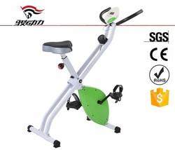 green red foldable X bike portable home gym equipment