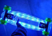 LED Light UP Plastic Skateboard Sunset Flare Ghost