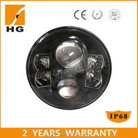 7 inch round led headlight right hand drive 12v 24v led motorcycle headlight round 7'' headlight