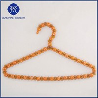 High quality orange and clear pearl beads clothes hangers wholesale