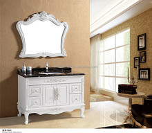 europe style PVC bathroom vanity with five Small lockers
